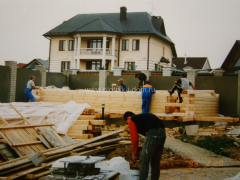 Строительство бани из клеенного бруса