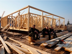 Бригада плотников строительство каркасного дома 2012 год