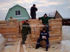 Бригада плотников дом из бруса 2008 год