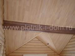 обшивка потолка вагонкой из кедра