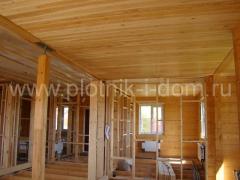 отделка потолка вагонкой из лиственице