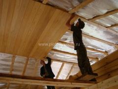 отделка потолка вагонкой из лиственницы