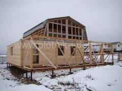 Строительство пристройки к деревянному дому