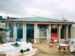 Строительство крыши беседки