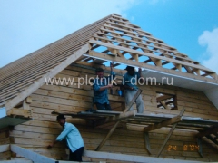 Подбой крыши софитами