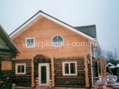 Строительство крыши дома из бревна