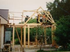 Строительство крыши пристройки к дому
