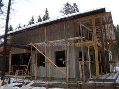 Каркасный дом, обшивка стен ЦСП