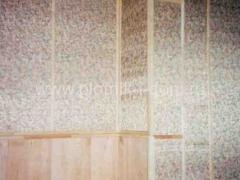 Комбинированная отделка стен - ткань и вагонка