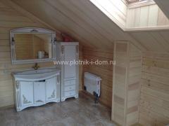 Деревянный дом отделка санузла