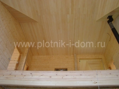 Отделка вагонкой - потолок