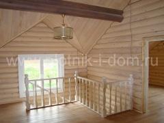 Отделка деревянного дома второй этаж