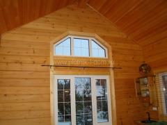 Деревянный дом - отделка окон