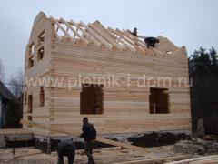 Строительные работы - дом из бруса