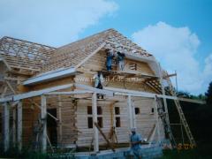 Строительство крыши - бригада плотников