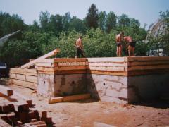 Строительство - бригада строителей плотников
