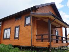 Внешняя отделка дома из профилированного бруса