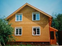 Отделка блок хаусом деревянного дома снаружи