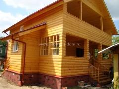 Внешняя отделка деревянного дома блок хаусом
