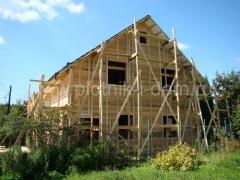 Каркасный дом под отделку - начало работ