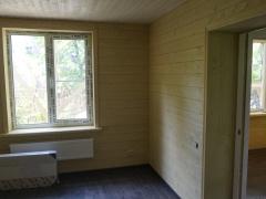 Реконструкция деревянного дома, отделка комнат