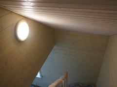 Реконструкция деревянного дома, отделка стен