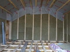 Реконструкция деревянного дома, выравние пола, утепление