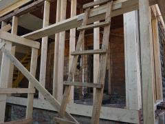 Реконструкция деревянного дома, каркас веранды