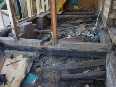 Ремонт деревянного пола - демонтаж лаг