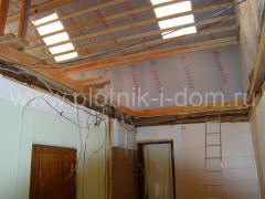 Ремонт потолочного перекрытия в старом деревянном доме