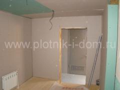 Отделка стен и потолков гипсокартом в деревянном доме