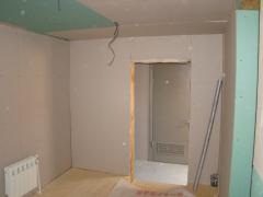 Обшивка стен гипсокартоном внутри деревянного дома