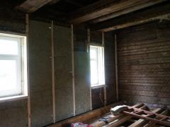 Ремонт и утепление внутри старого деревянного дома