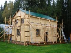 Строительство веранды, отделка дома имитацией бруса