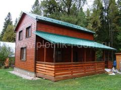 Пристройка открытой веранды к деревянному дому