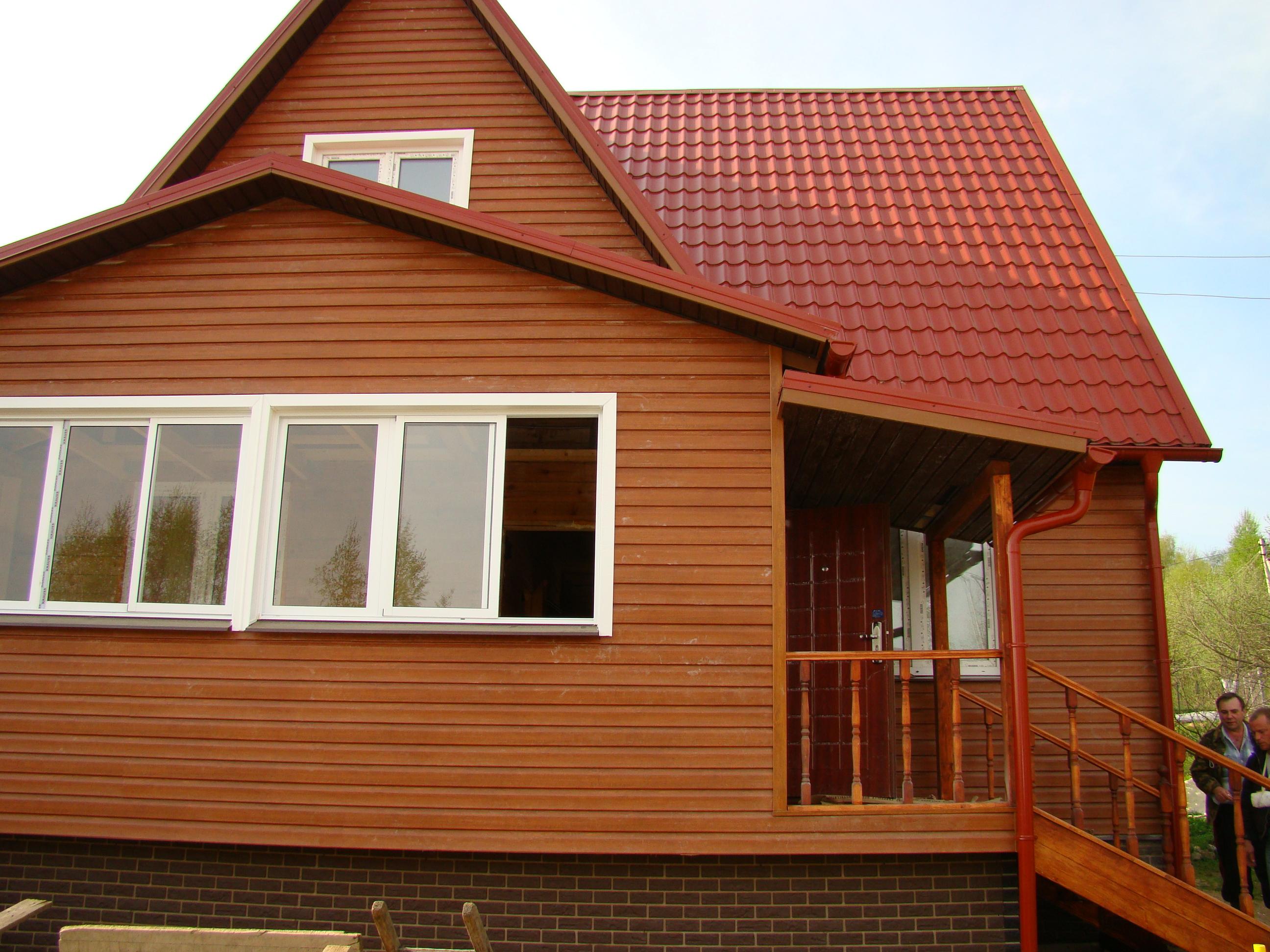 понравилась дом из сайдинга с деревянной пристройкой фото очень долго