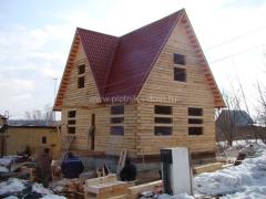 Дом из бруса под крышу