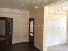 отделка имитацией бруса в деревянном доме