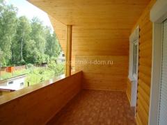 Отделка балкона - лоджии в деревянном доме