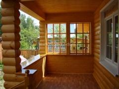 Отделка деревянного дома блок хаусом