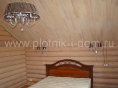 Отделка спальни в деревянном доме